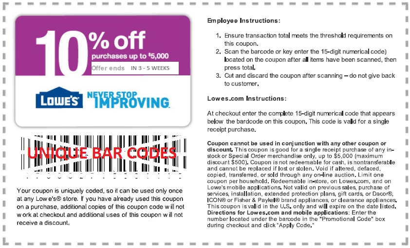 10 off lowes coupon code